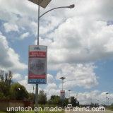 Casella chiara Backlit esterna degli annunci della flessione LED della bandiera della pellicola del comitato solare del Palo della lampada
