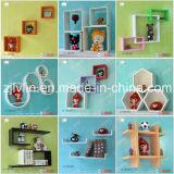 Mensola di libro di legno decorativa del cubo della mensola della parete della visualizzazione con figura di amore