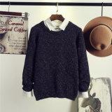 둥근 목 스웨터 1520년이 봄 젊은이 색깔에 의하여 점을 찍는다