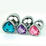 De Anale Stop van het metaal met het Stuk speelgoed van het Geslacht van de Juwelen van het Kristal voor de Mens en Vrouw