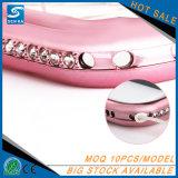 iPhone 7のための超薄く柔らかいTPUのラインストーンのダイヤモンドの携帯電話の箱