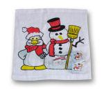 Toalha comprimida Natal do projeto do boneco de neve de toalha (YT-679)