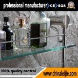 Prateleira de vidro elegante de camada dupla de aço inoxidável (LJ55014)