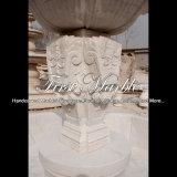 Fuente de mármol blanca Mf-804 del jardín