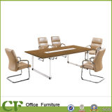 Metallo Frame Office Meeting Table 36mm Thickness Design
