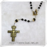 Il nuovo rosario di pietra nero, modo borda il rosario, i rosari di pietra dei branelli (IO-cr361)