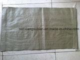 Серые вкладыши мешка зеленого цвета сплетенные PP для отброса упаковки