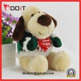 игрушка собаки плюша заполненного животного 20cm с красным сердцем