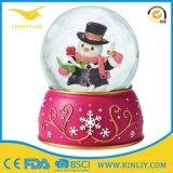 regalo di vetro del globo della neve della cupola dell'acqua della resina di 80mm per il capretto