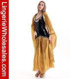 Halloween партии причудливый платья женщин ослеплять Cleo египетский Costume ферзя
