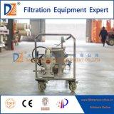 Machine manuelle mobile de filtre-presse de membrane d'opération