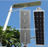 Ce RoHS IP65 5W-100W todo em uma da luz solar do jardim da lâmpada de rua do diodo emissor de luz do sensor da luz do sensor de movimento luz de rua solar Integrated