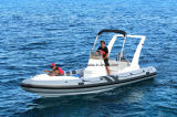 Aqualand 21feet 6.45m Rigid Inflatable Fishing Boat 또는 Rib Motor Boat (RIB650)
