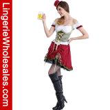 """Do corpete com cordões """"sexy"""" de brocado das mulheres traje adulto da menina do jardim da cerveja"""