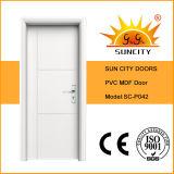 Porta de madeira do MDF da porta econômica do PVC (SC-P027)