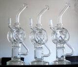 10.2 Zoll-Borosilicat Handblown Recycler-rauchendes Wasser-Glasrohr
