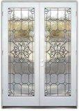 Дверь стального металла стеклянная с деревянной рамкой