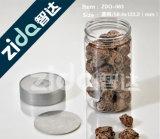 Einfaches geöffnetes transparentes Plastikglas mit Kappe für Nahrung