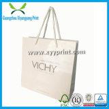 Luxo saco de embalagem artesanal de compras Livro Branco Kraft com logotipo impresso