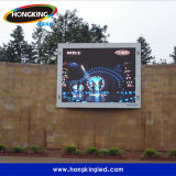 Uso ao ar livre e diodo emissor de luz impermeável ao ar livre video do brilho elevado da função P10 do indicador bom que anunciam a tela