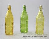garrafa de água 1000ml de vidro com decoração do decalque