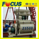 Js500 0.5m3販売のための小型対の水平シャフトの具体的なミキサー機械