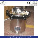 Stérilisateur portatif de vapeur de pression d'acier inoxydable, autoclave portatif 18/24 L