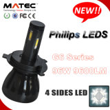 Matec G5 G6 COB/Phillips H1 LED 헤드라이트 H1 H3 H4 H7 H13 9005 9006의 LED 헤드라이트