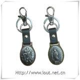 Catena chiave di Keychain del metallo di Buliding del fornitore su ordinazione dell'anello chiave, supporto chiave (IO-ck100)