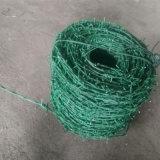 緑色PVC上塗を施してある有刺鉄線