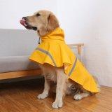 Плащпалата куртки дождя регулируемого плаща собаки облегченная с прокладкой отражательной