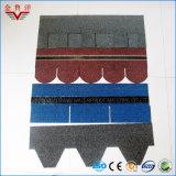 Tipo laminado ripia colorida del asfalto del fabricante, azulejo de material para techos colorido de asfalto