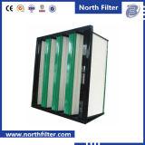 Filtre à manches moyen de V-Côté pour le traitement d'air