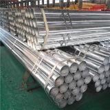 Tubo de acero galvanizado estándar BS1387 roscado en ambos extremos