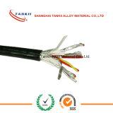 cable Termopar tipo N con fibra de vidrio de aislamiento de teflón trenzado y vaina SS304