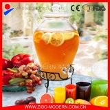 Оптовый дешевый большой стеклянный распределитель напитка с крышкой и краном