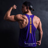 Concevoir le muscle en fonction du client Tanktop de Mens de coton