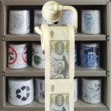 Chiffons personnalisés de papier de toilette estampés par argent de tissu de salle de bains