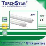 0.6m 투명한 SMD 9W 알루미늄 LED T8 관