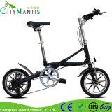 Bicicleta de dobramento adulta da liga de alumínio de 14 polegadas com freio de disco