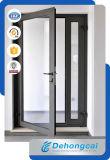 Дверь европейского типа алюминиевая с стеклом 5mm одиночным Tempered