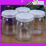 Pudding-Glasflaschen-Minimilchflasche des Nahrungsmittelgrad-40ml 100ml mit Korken oder Schutzkappe