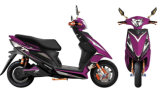 Motocicleta elétrica com a motocicleta da raça da bateria 48V