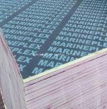 具体的な合板のブラウンのフィルムのポプラのコアWBP接着剤