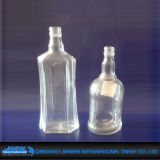 Esvaziar o frasco de vidro geado para o vinho/produtos vidreiros