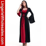 Costume à capuchon de Cosplay de sorcière de robe longue d'usager de Veille de la toussaint des femmes de luxe