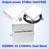 900 impulsionador do sinal do telefone de pilha de 2100MHz 2g 3G/repetidor do sinal/amplificador G/M
