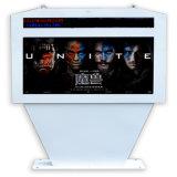 55 Zoll-Fußboden, der im FreienScreen-Kiosk für das im Freien LCD Bekanntmachen steht