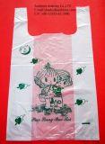 自身のロゴの一重項のTシャツの買物をするポリ袋