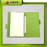 De Groene Pu Dekking Prinitng van het notitieboekje